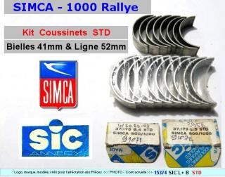 Coussinets de Lignes & de Bielles STD Simca 1000 Rallye Special SIC (collection)