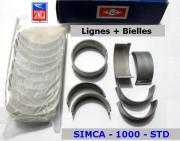 Coussinets de Lignes & de Bielles STD Simca 1000 TLC 91071 91072 (collection)