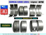 Coussinets de Lignes SIMCA 1500 1501 STD 54mm Clevite 6066
