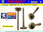 Soupapes Admission PEUGEOT 404 8 cv Essence 39 x 118 x 8mm Floquet Monopole 5029