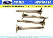 Soupapes Echappement FORD Escort 34 x 133 x 8 mm Livia 47030136