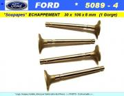 Soupapes Echappement FORD 30 x 106 x 8mm Floquet Monopole 5089