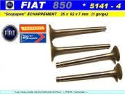 Soupapes Echappement FIAT 850 25 x 92 x 7mm Floquet Monopole 5141