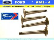 Soupapes Echappement FORD 32 x 106 x 8mm Floquet Monopole 6103