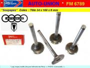 Soupapes Admission Auto-Union 34 x 99 x 8mm Floquet Monopole 6789 (collection)