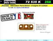 Fusible Alternateur Paris Rhône CITROEN 2cv Dyane Ami Méhari 12 volts 25A