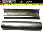 Outil Facom entretoises montage silent-blocs suspension AV Simca 1300 1500 (outillage atelier)