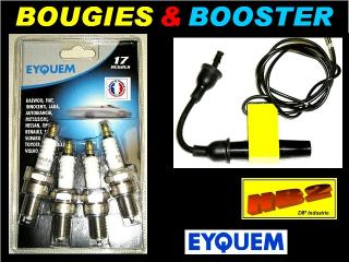 Lot 100 Bougies EYQUEM RC62LS et 100 Boosters Eclateurs HB2-FRANCE 12v